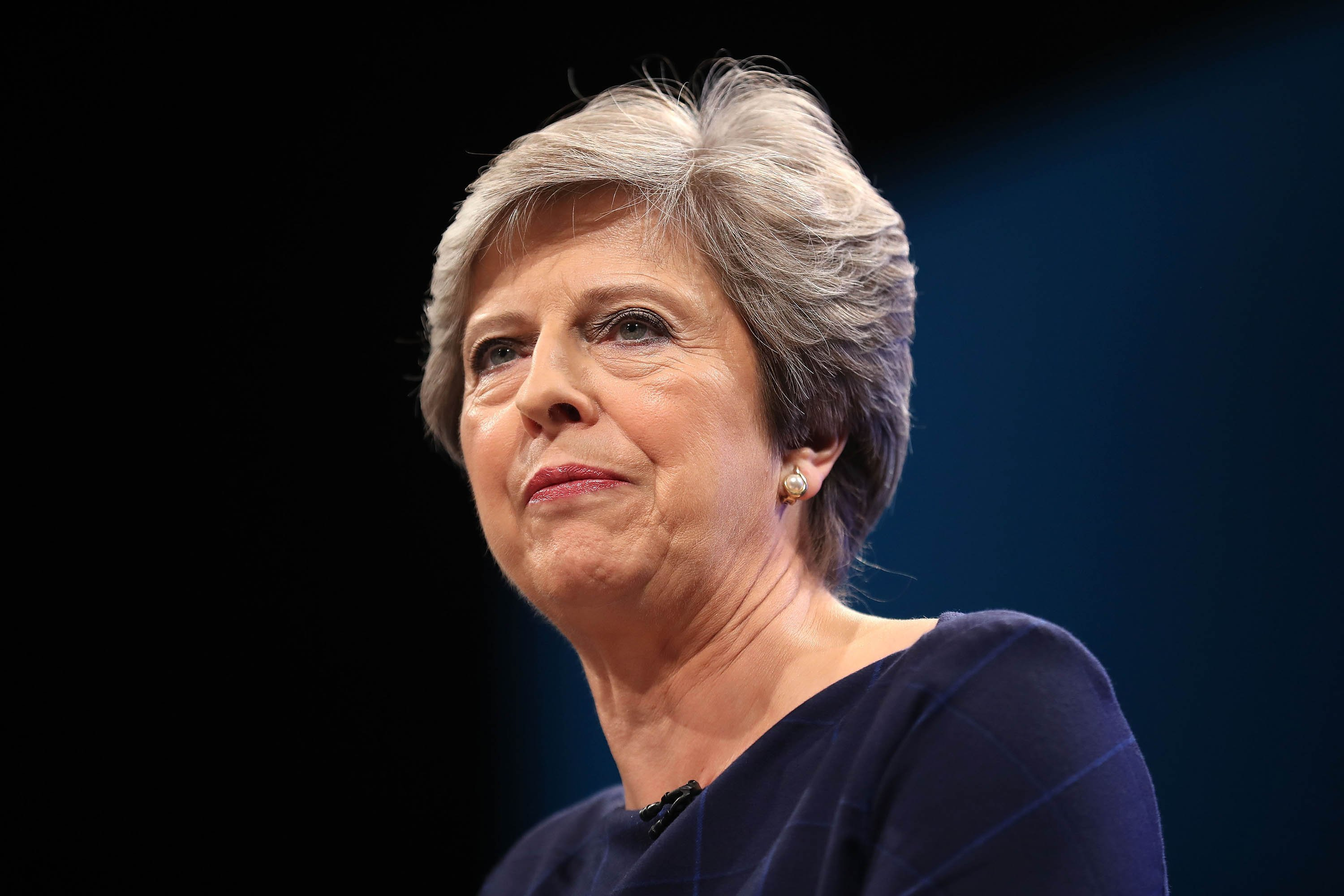 **This image is for use with this specific article only**  British Prime Minister Theresa May is set to meet fellow party leaders to discuss the current scandal.