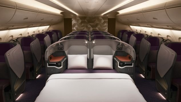 Double the luxury: Singapore Airline's new Business Class beds and Suites.