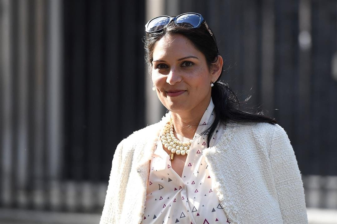 **This image is for use with this specific article only**  Secretary of State for International Development Priti Patel leaves 10 Downing Street on June 11, 2017.