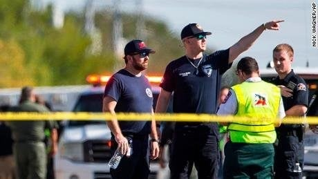 **This image is for use with this specific article only.**  Multiple people have been killed and many more injured in a shooting Sunday at First Baptist Church of Sutherland Springs, Texas, authorities said.