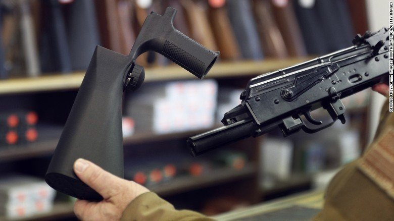 **This image is for use with this specific article only**  Massachusetts is the first state since the deadly shooting in Las Vegas last month to ban bump stocks, the gun accessory the shooter used to increase his rate of fire.