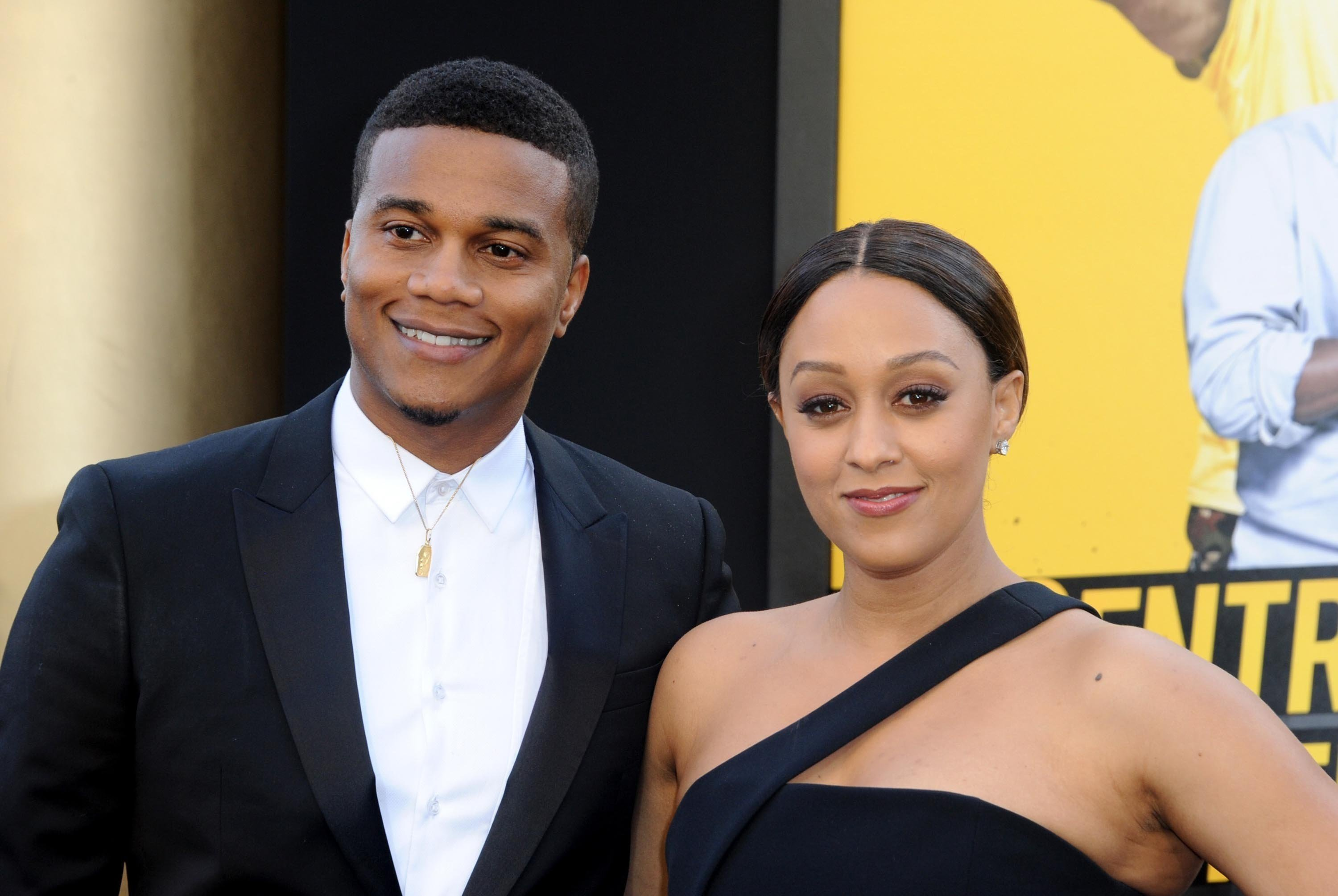 **This image is for use with this specific article only**  Tia Mowry and husband Cory Hardrict are growing their family.