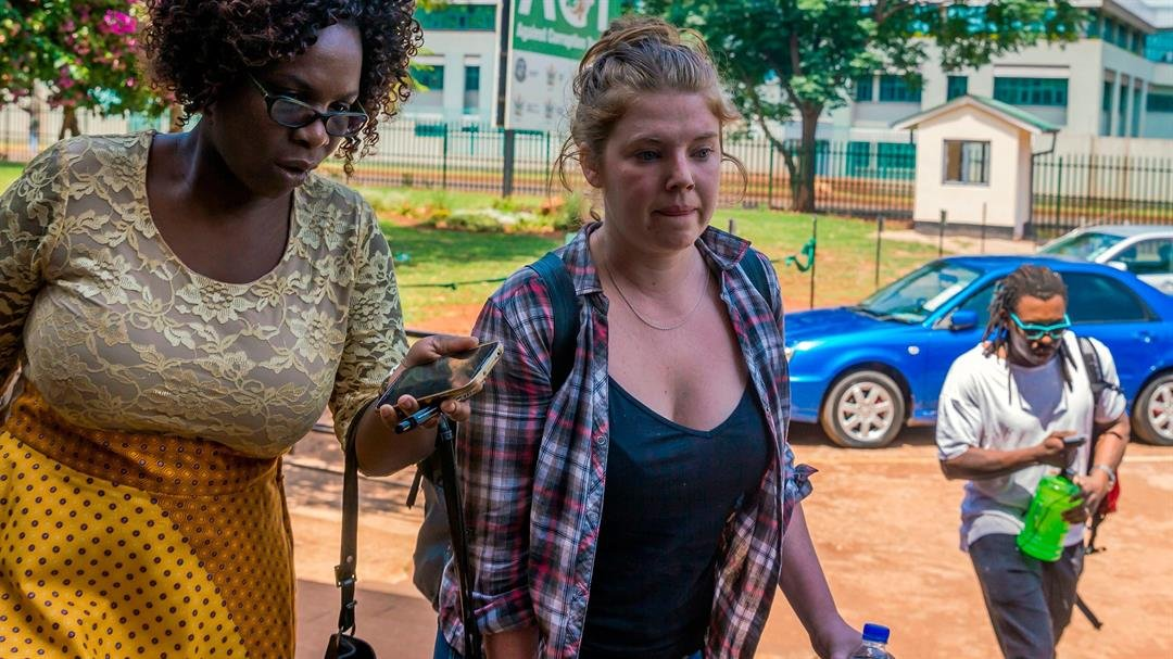 """**This image is for use with this specific article only**  Martha O'Donovan, 25, was detained November 3 after reportedly tweeting that Mugabe -- one of Africa's longest-serving leaders -- is """"a selfish and sick man."""""""