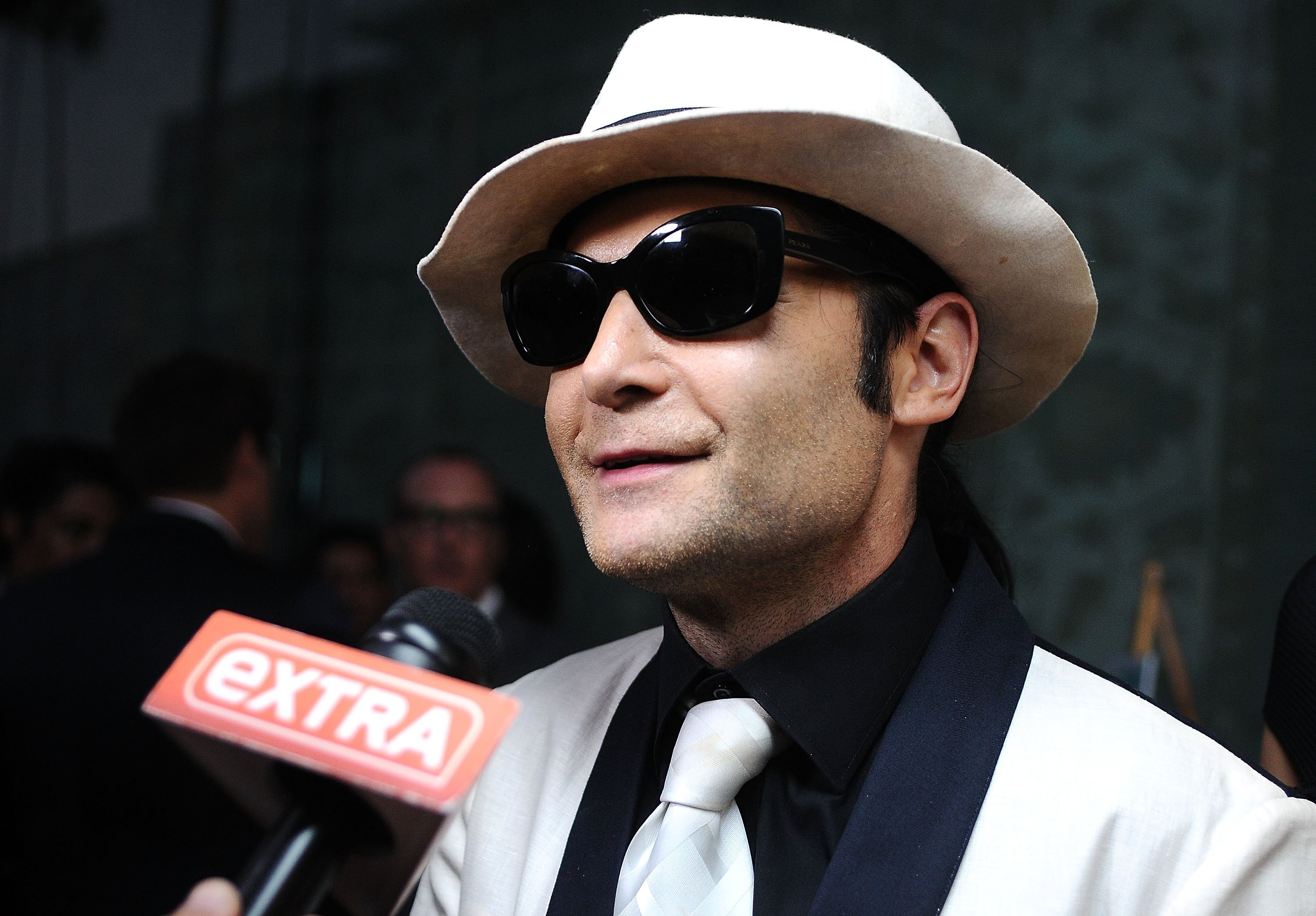 **This image is for use with this specific article only**  As Hollywood grapples with accusations of sexual harassment and abuse, actor Corey Feldman says he's living in fear as he tries to expose pedophilia in the industry.