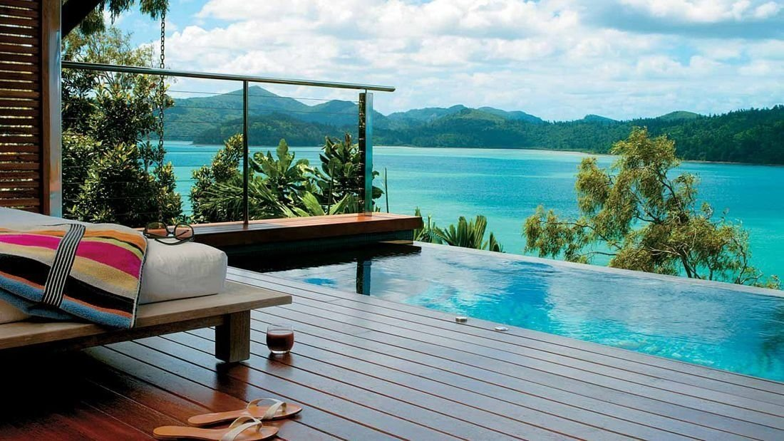 Qualia, Whitsundays, Australia: Tucked away on the tropical, eucalypt-filled northern tip of Hamilton Island in the Great Barrier Reef, Qualia is comprised of 60 timber-and-glass villas.