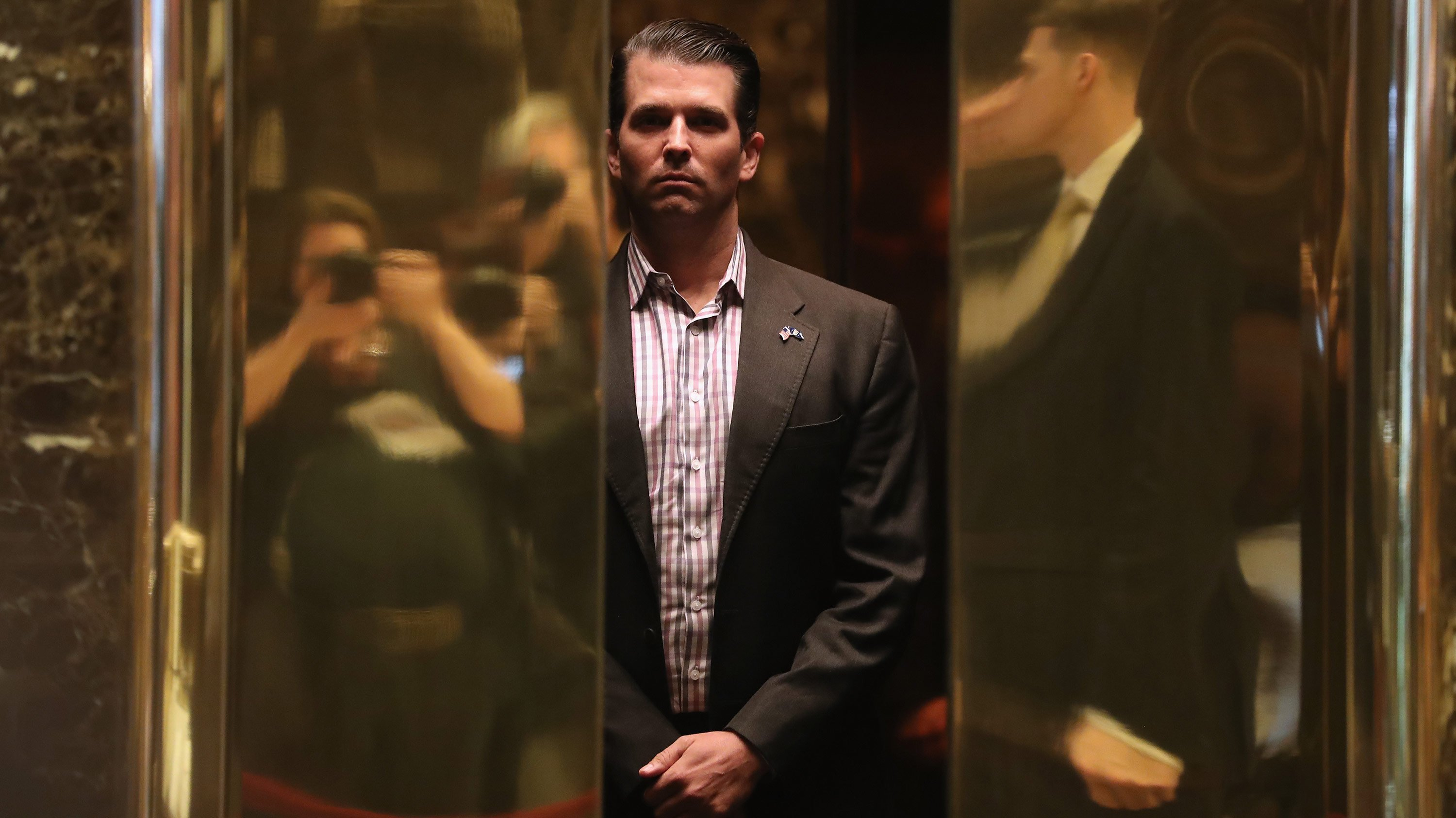 **This image is for use with this specific article only**  Trump Jr.'s obvious attempt to minimize this news -- nothing to see here folks!!! -- is a bit of a tell.