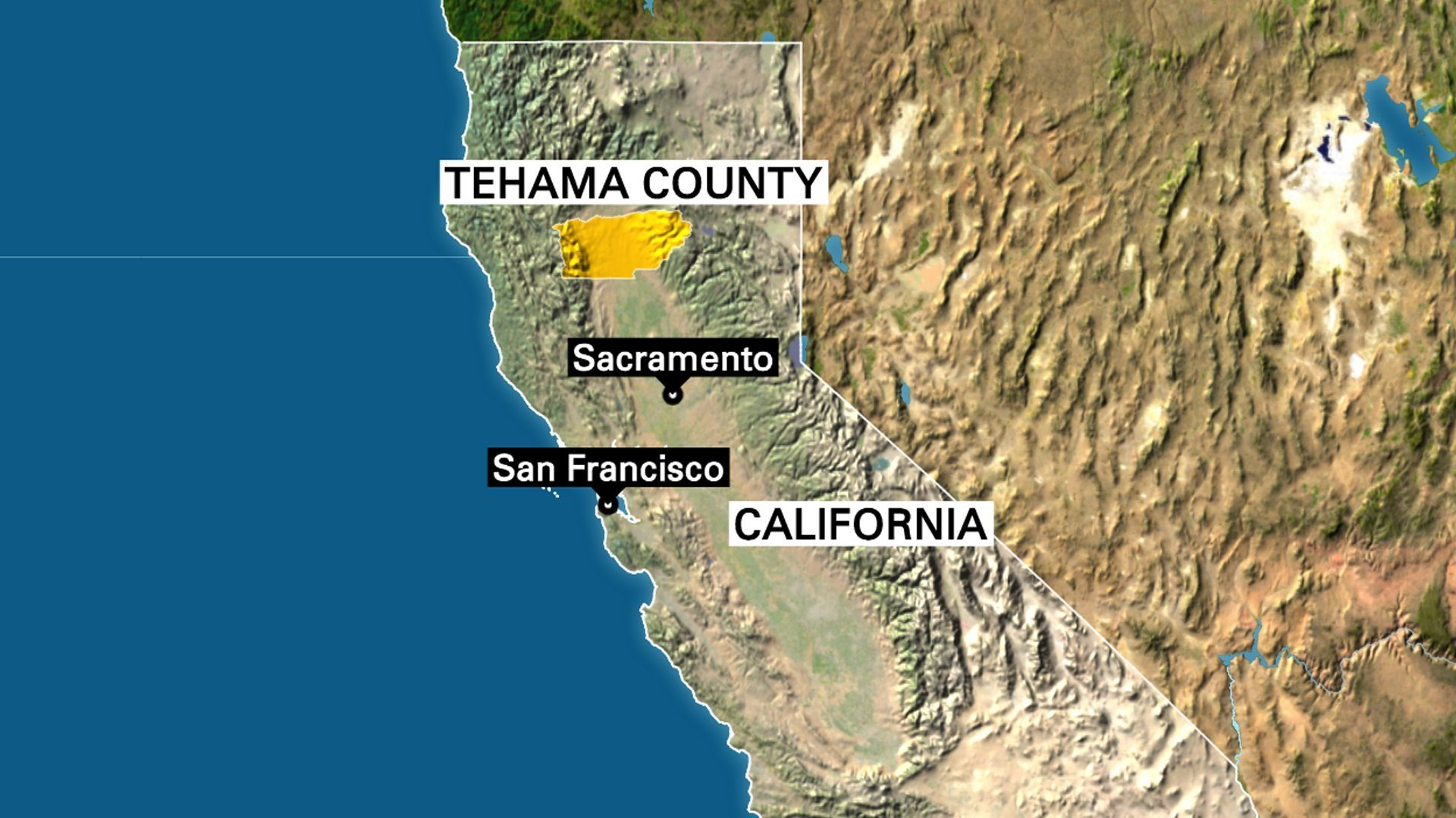 At least three people were killed Tuesday in northern California's Tehama County, Assistant Sheriff Phil Johnston said.