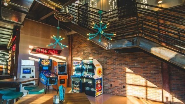 It once steered aircraft around the skies, but now a neglected air traffic control tower in Denver is steering diners around its menus. Eatertainment company Punch Bowl Social have repurposed the tower.  CREDIT: Courtesy Amber Boutwell, Punch Bowl Social