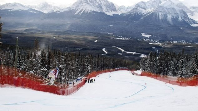 **This image is for use with this specific article only**  Lindsey Vonn is a Lake Louise expert with 14 of her 39 downhill wins on the Canadian hill.