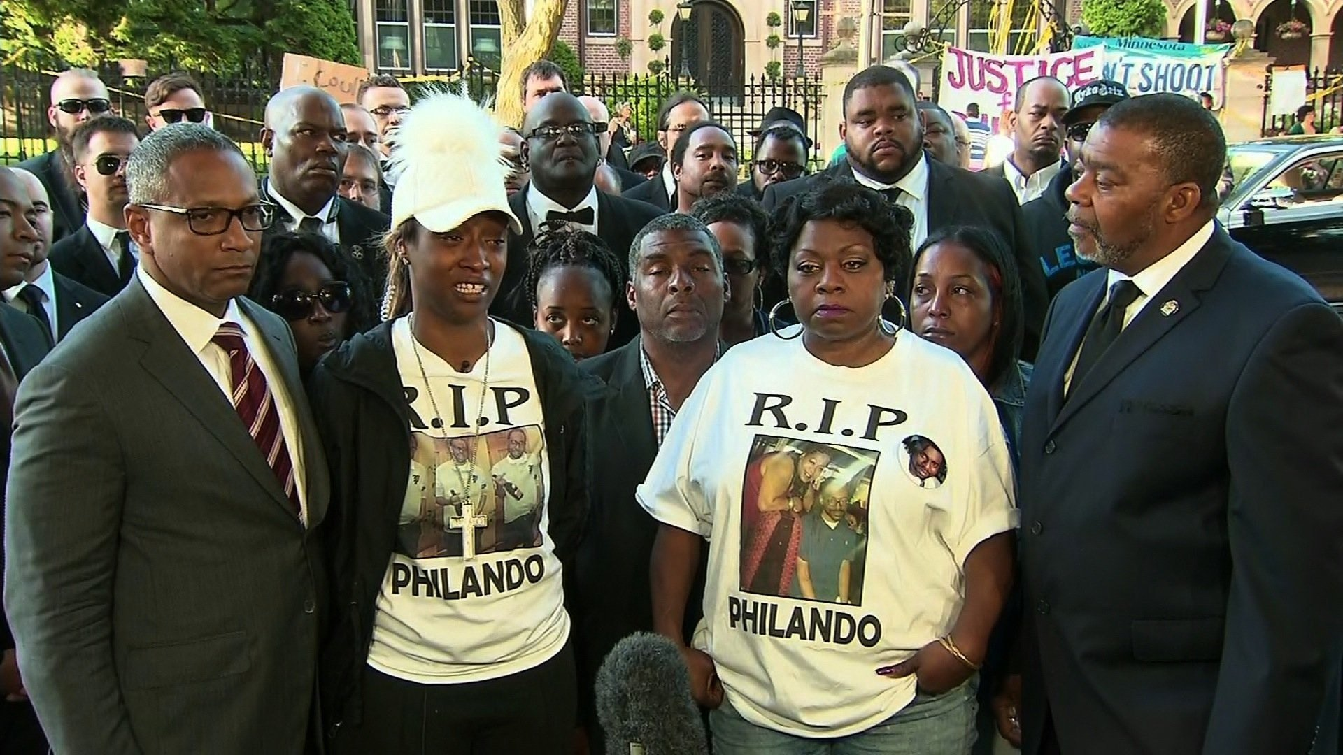 Diamond Reynolds (second to left), who saw a police officer fatally shoot her fiancé, Philando Castile, during a traffic stop last summer, will return to the witness stand on Tuesday, June 6, 2017.