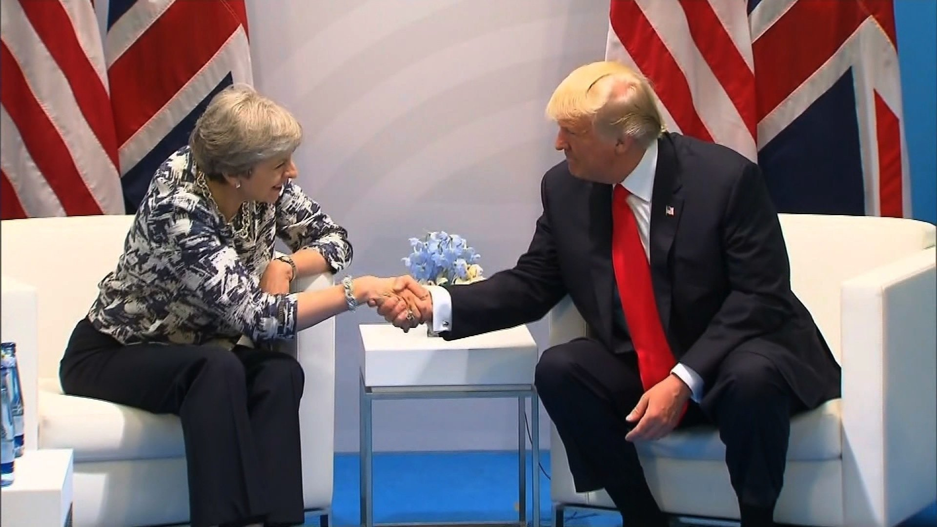 President Donald Trump met with British Prime Minister Theresa May at the G20 meeting in Hamburg, Germany, confirming that the two countries are currently working on a trade agreement.