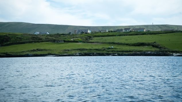 The number of yearly visitors allowed on Skellig Michael is 14,000, and boats that land there each hold about 12 passengers. Pictured here is Portmagee, a small town on the mainland from which boats depart for tours to the islands.