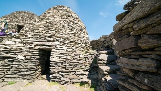 """Skellig Michael is home to a UNESCO World Heritage Site, an ancient Christian monastery with unique """"beehive"""" structures."""