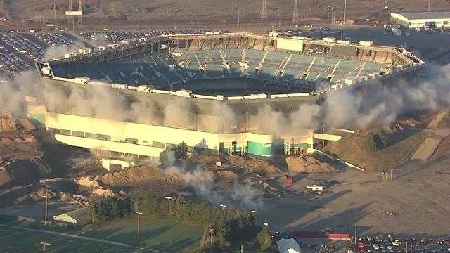 **Embargo: Detroit, MI  Detroit's Silverdome implosion attempt happened Sunday, December 3, 2017 morning. Stadium housed city's sports franchises, including the Lions and the Pistons.