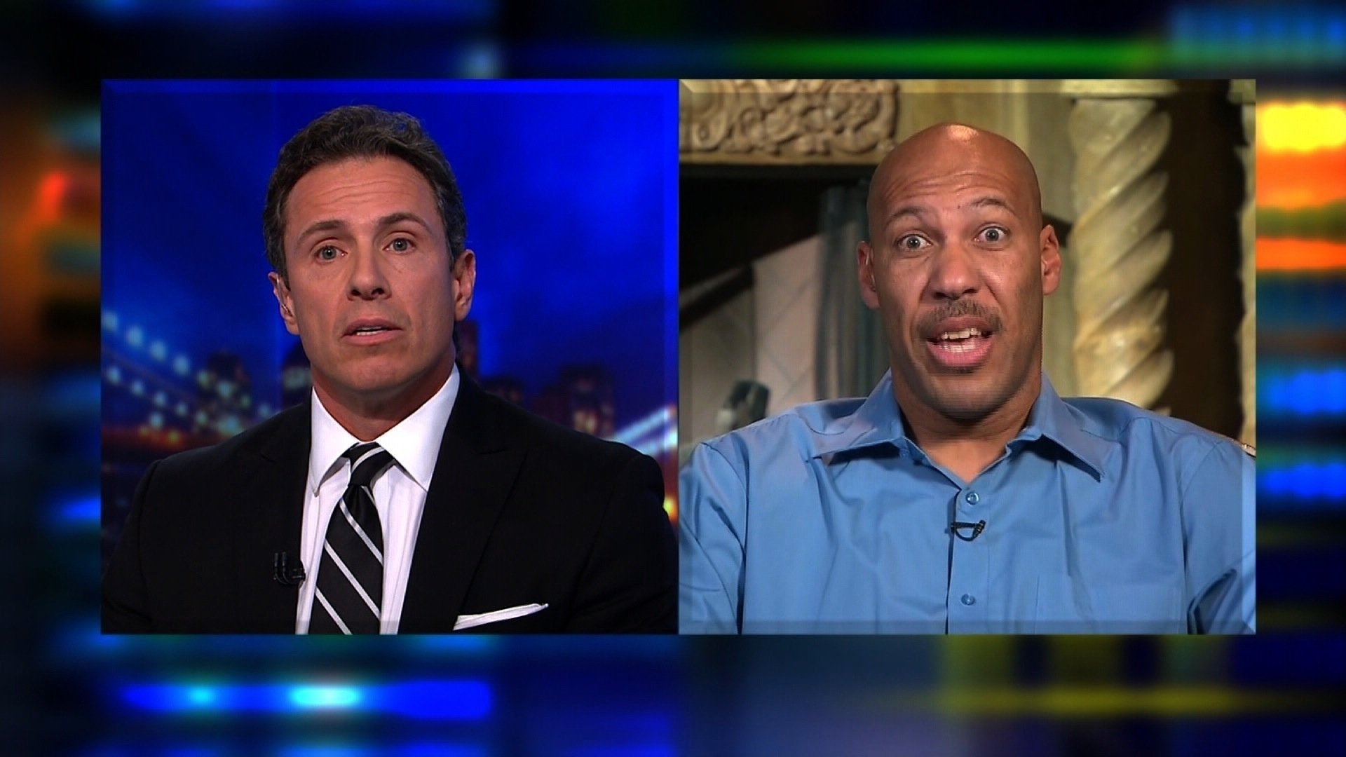 """File- LaVar Ball denies being in a feud with President Donald Trump, but repeatedly refused to issue a """"thanks"""" to the President for his involvement in the release of his son from China."""