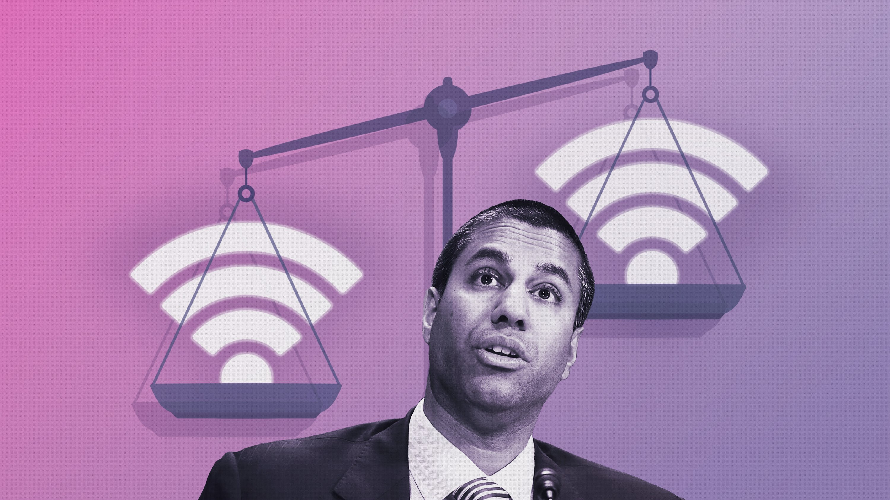 This image is for use with this specific article only.** Ajit Pai is the current FCC chairman