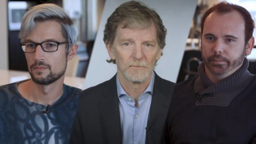 The Supreme Court will take up one of the most momentous cases of the term on Tuesday, Dec. 5, 2017, as it considers arguments from a Colorado baker, Jack Phillips (middle) who refused to make a cake to celebrate a same-sex couple's marriage (David...