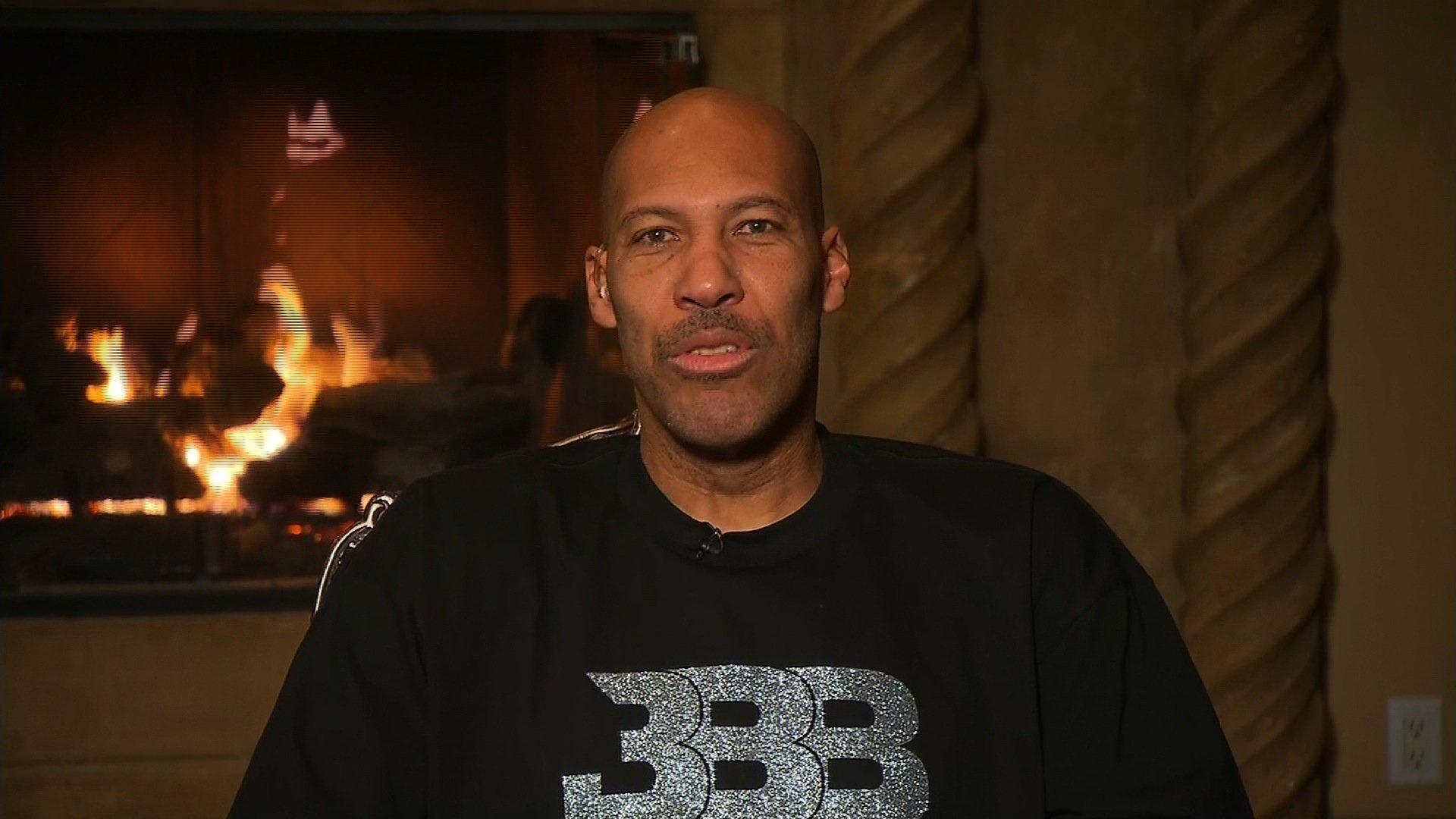 Basketball father and businessman LaVar Ball speaks on CNN on December, 5, 2017.