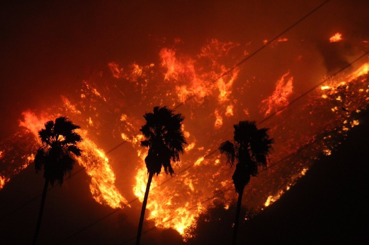 The Thomas Fire in California has grown to over 26,000 acres with 0% perimeter containment, according to a tweet from the Ventura County Fire Department's verified Twitter account.