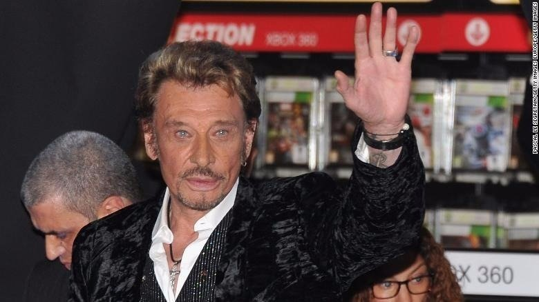 **This image is for use with this specific article only.**  Johnny Hallyday, France's rock 'n' roll icon has died, the French president's office said in a statement on Wednesday, December 5, 2017. He was 74 years old.