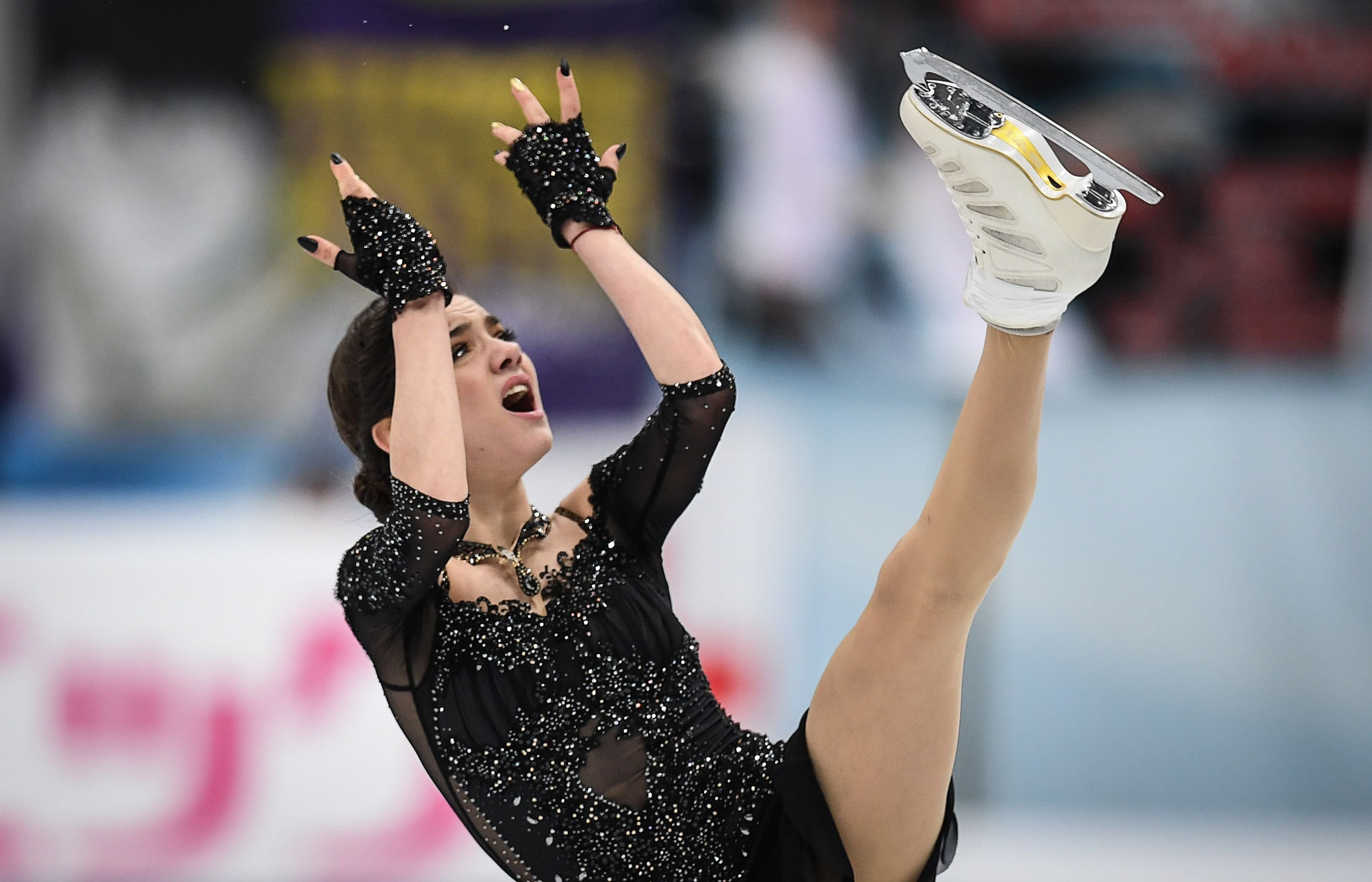 **This image is for use with this specific article only**  Evgenia Medvedeva is one of several Russian athletes who indicated they may boycott the Games rather than compete as neutrals.