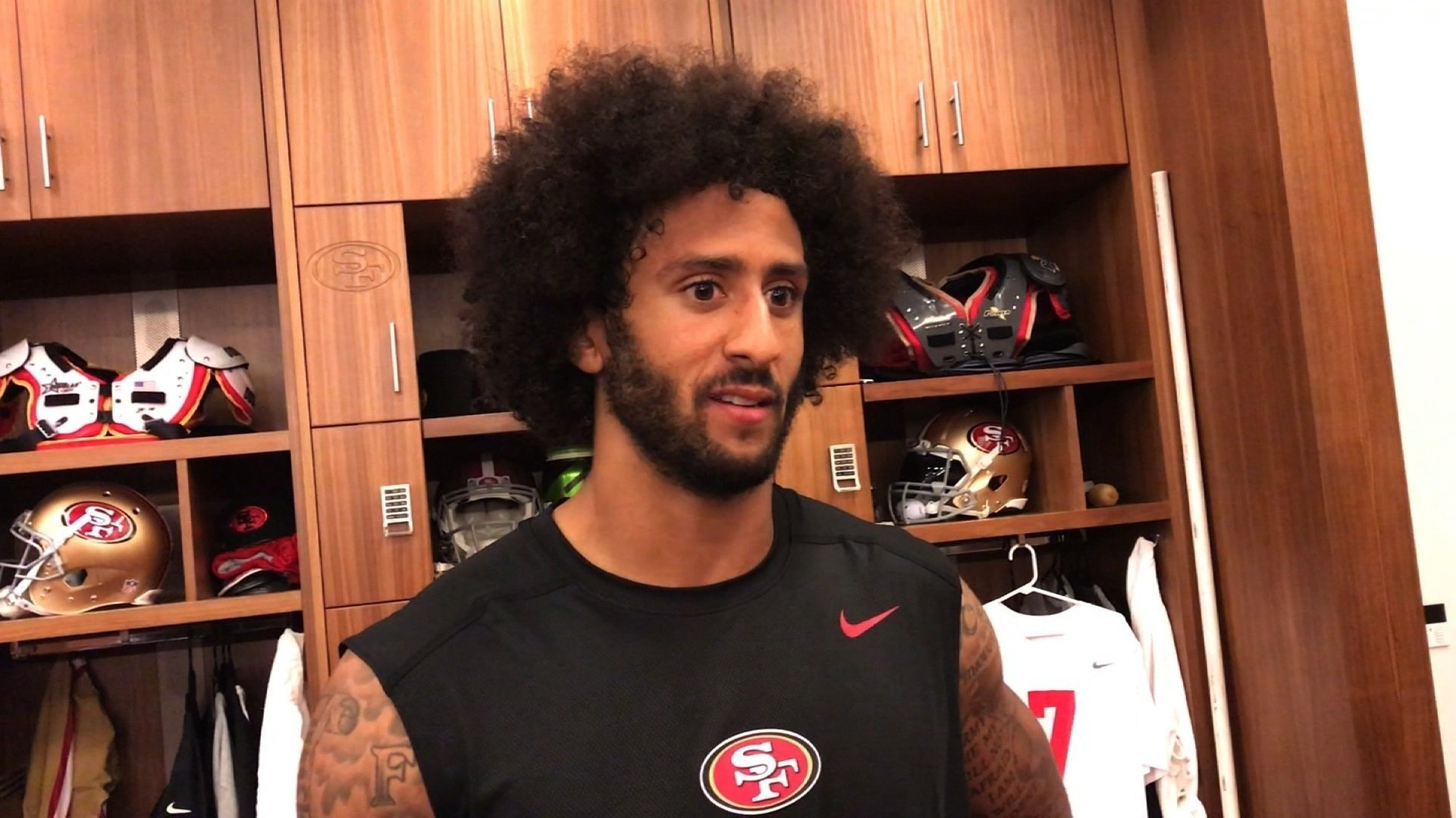 Colin Kaepernick has received the 2017 Sports Illustrated Muhammad Ali Legacy Award. (File Photo)