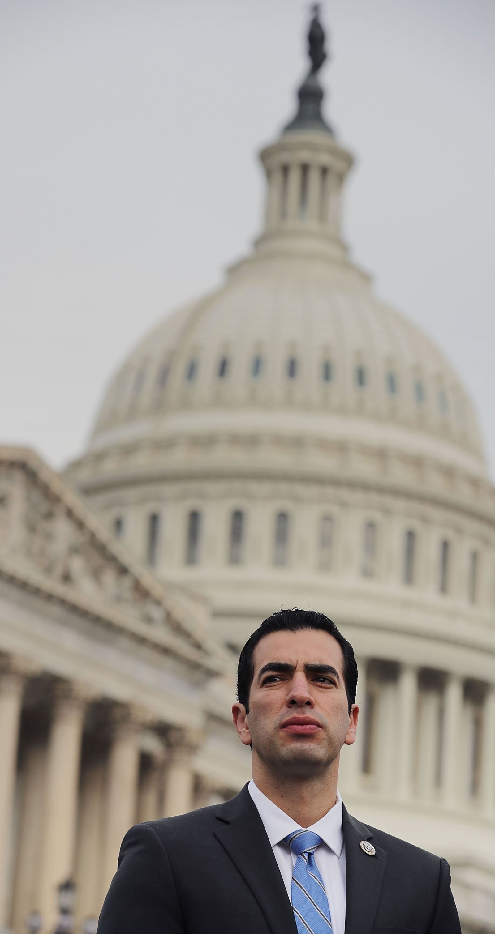 **This image is for use with this specific article only.**  Rep. Ruben Kihuen is seen outside the US Capitol last month in Washington.  Full Credit: Chip Somodevilla/Getty Images/File