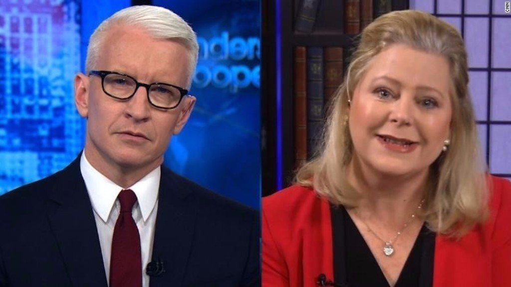 Janet Porter, Spokeswoman for Roy Moore, speaks with CNN's Anderson Cooper on December 6, 2017.