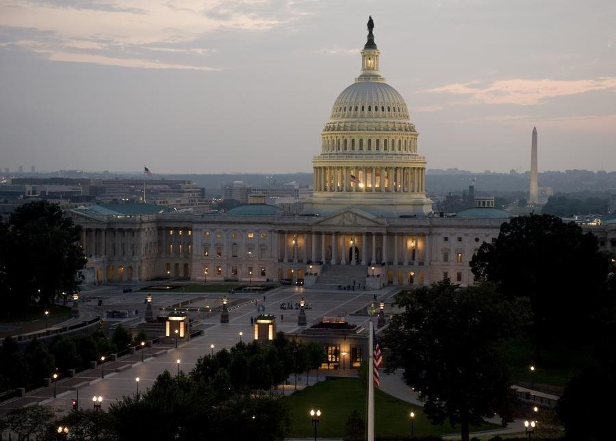 An image of the exterior of the U.S. Capitol.
