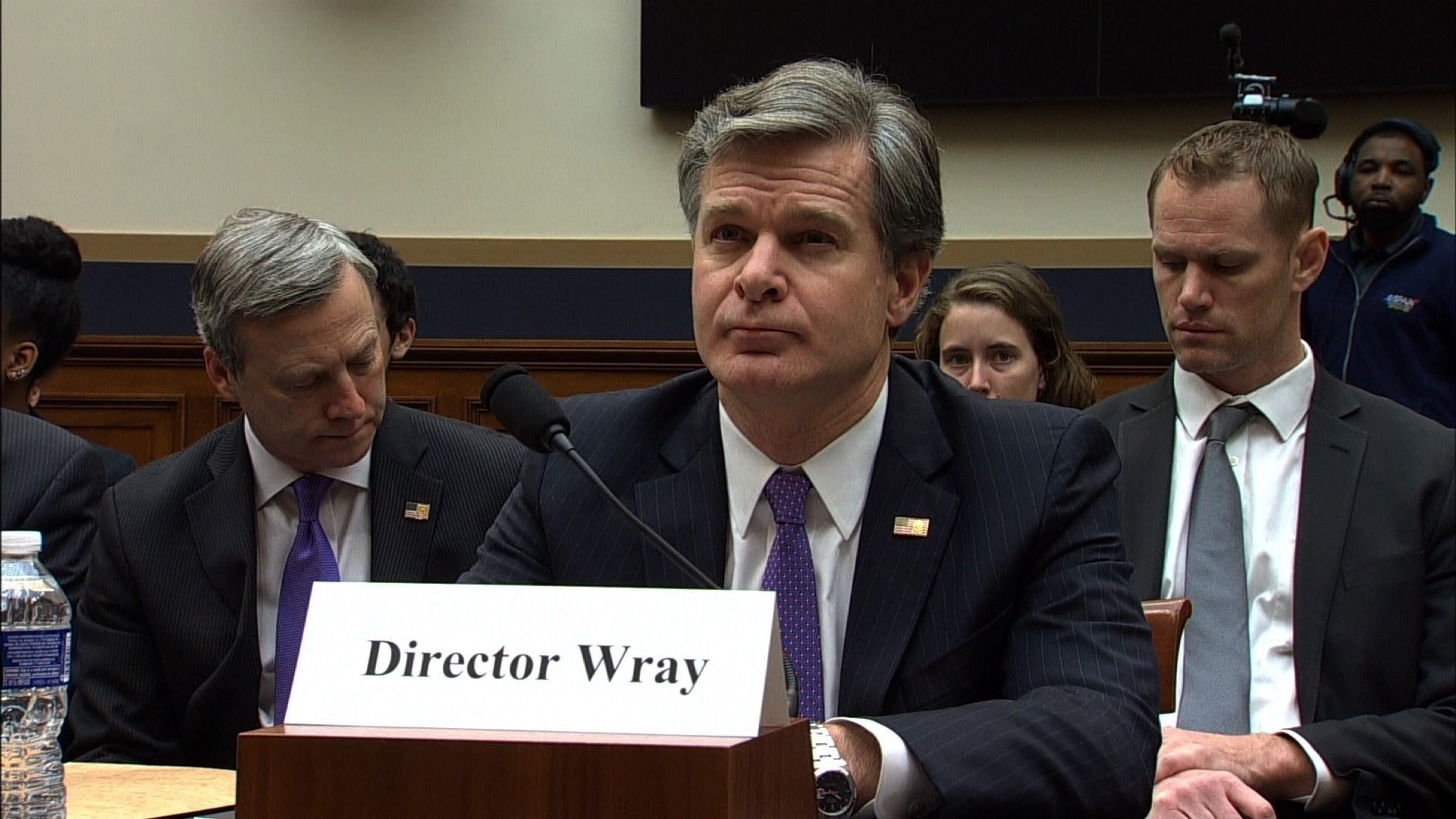 FBI Director Christopher Wray testifies on December 7, 2017, after President Trump's attacks on agency.