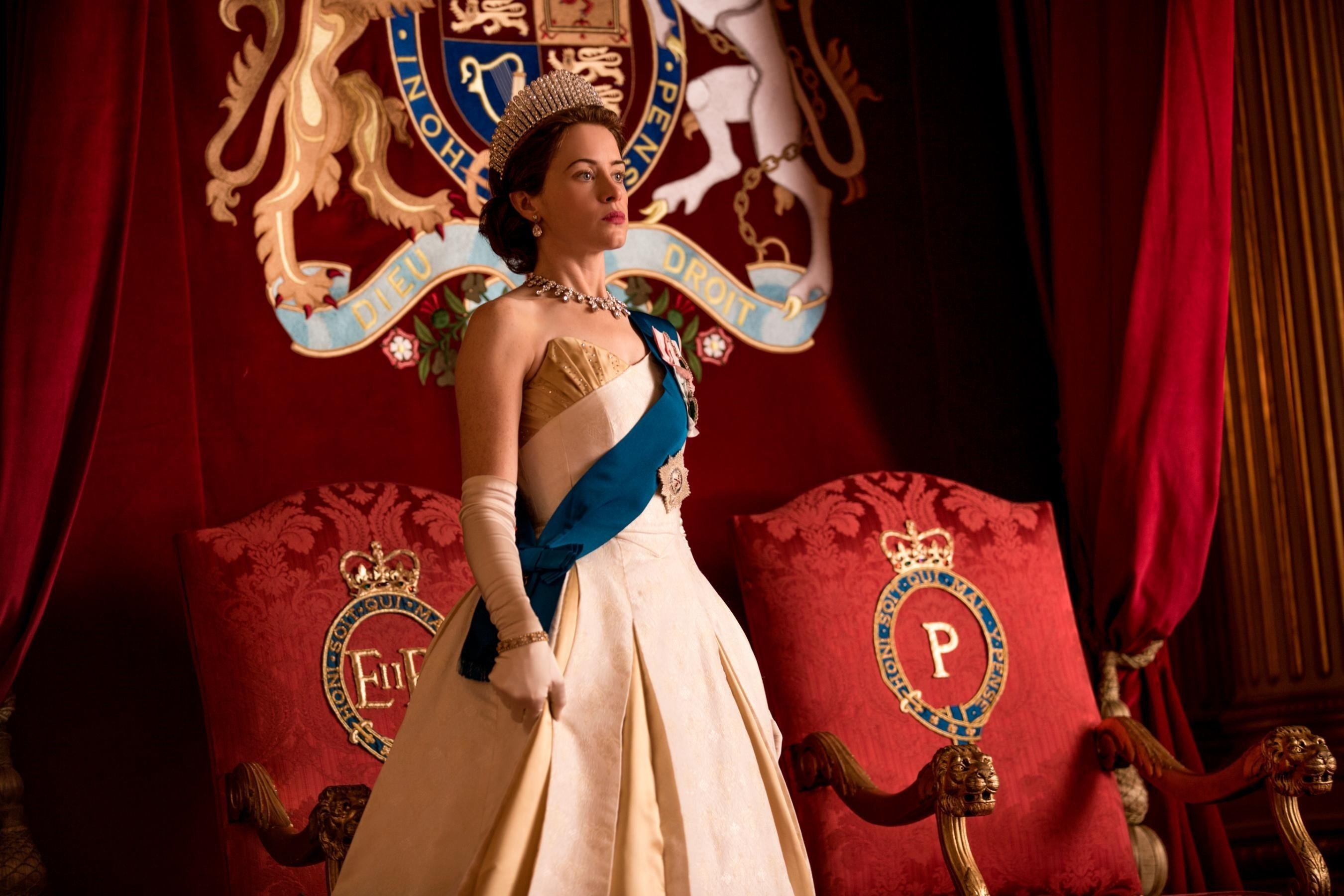 """Claire Foy as Queen Elizabeth in """"The Crown."""""""