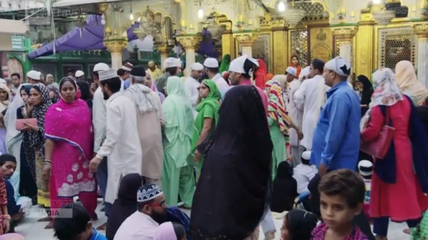 Inside Dehli, India's Hazrat Nizamuddin Dargah, the shrine of Sufi saint Khwaja Nizamuddin and a pilgrimage site for Sufi devotees from around the world.