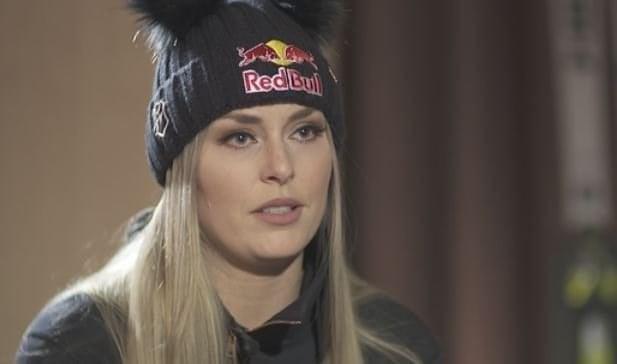 Lindsey Vonn is seen here speaking to CNN in St Moritz, Switzerland.