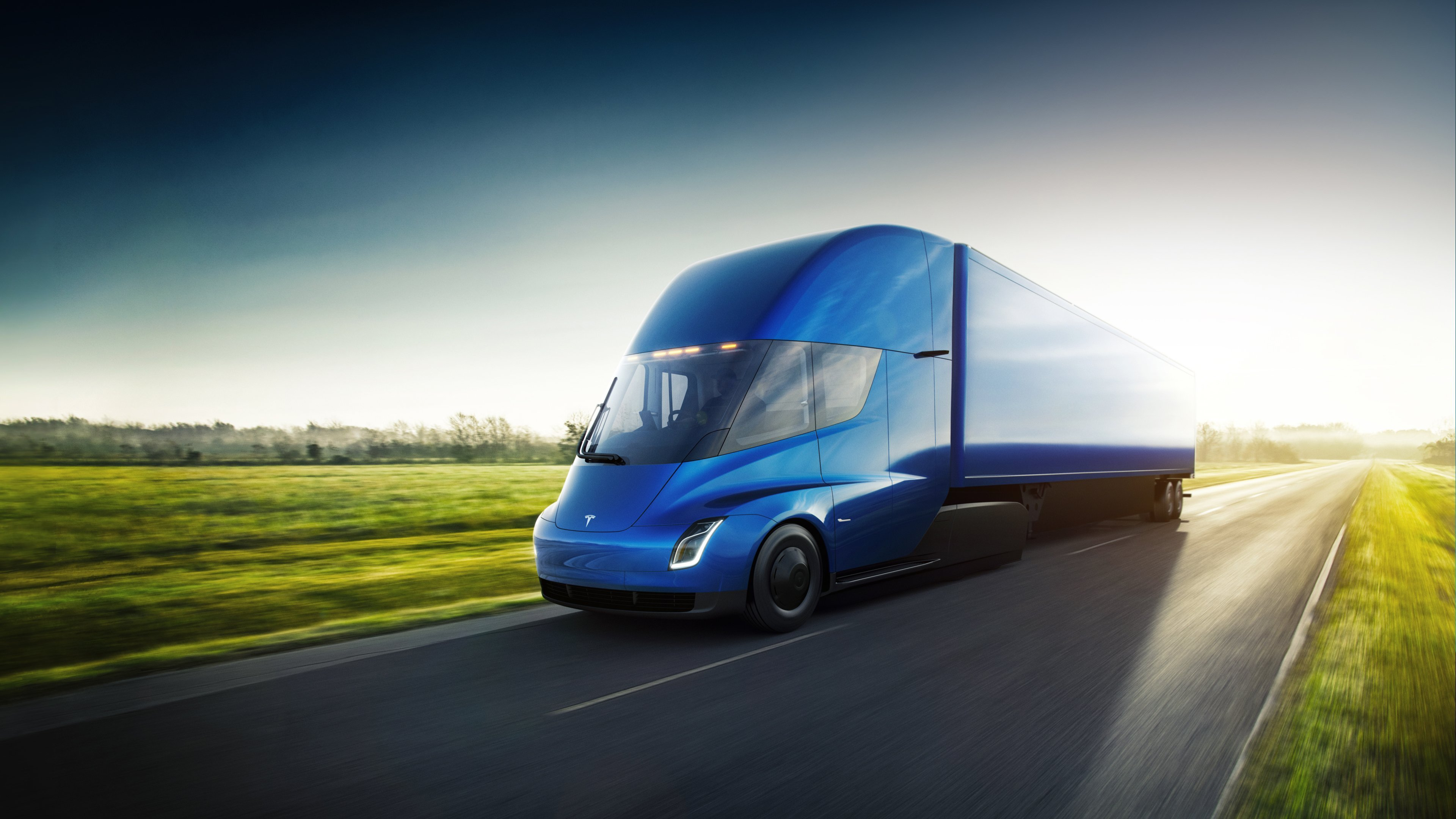 Tesla's semi-truck will have up to 500 miles of range, the automaker claims.