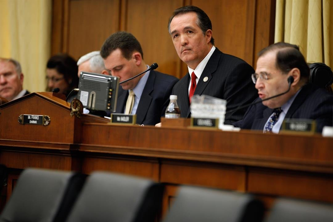 **This image is for use with this specific article only.**  Rep. Trent Franks, a Republican from Arizona, holds a hearing in February 2011 on Capitol Hill.