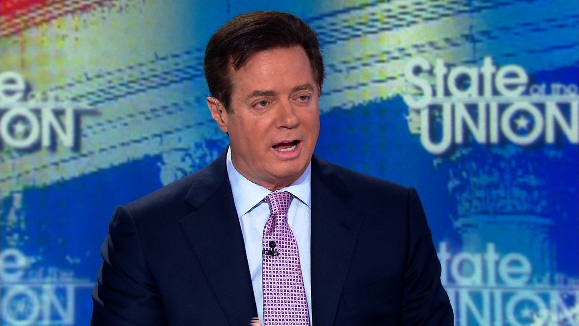 Paul Manafort was Trump's campaign chairman for the 2016 presidential election. Manafort is seen here speaking to CNN in 2016. (File Photo)