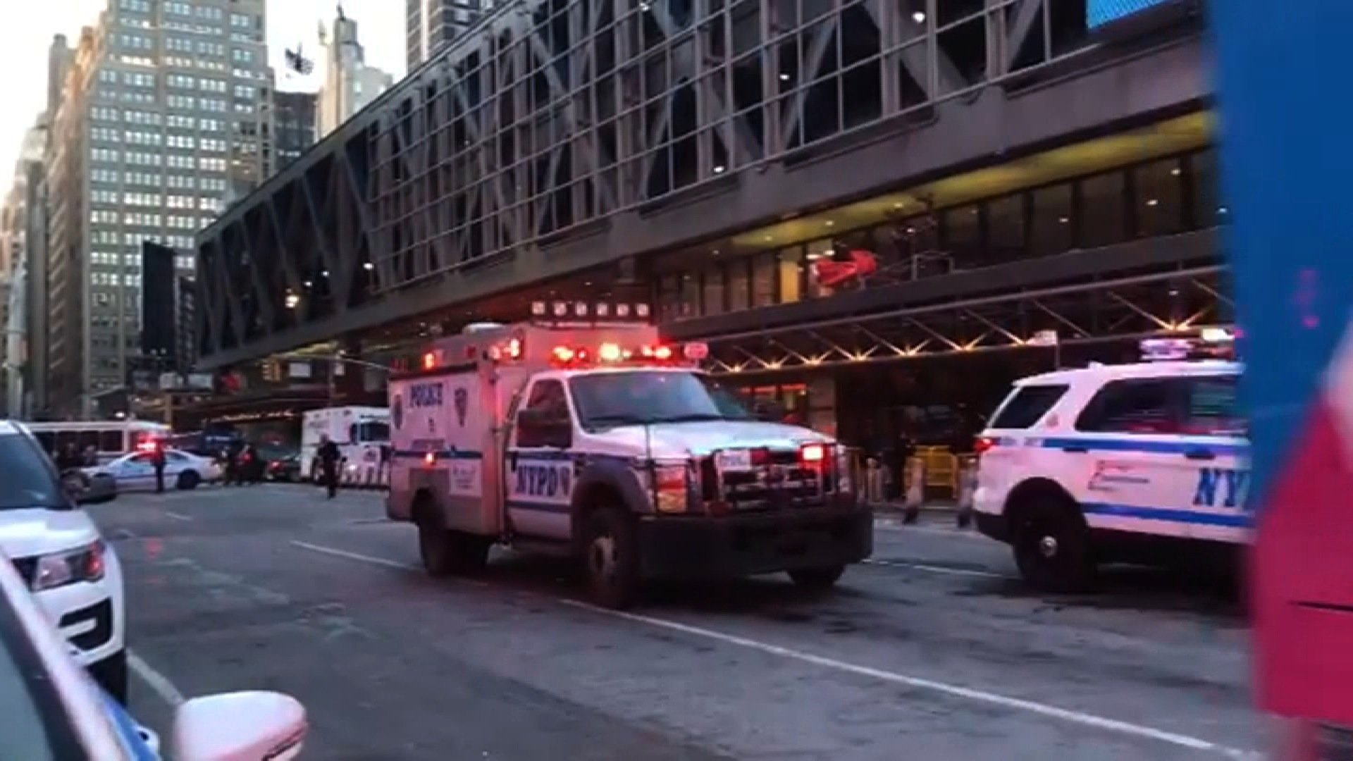 Pipe Bomb Explodes At NYC's Port Authority Near Times Square