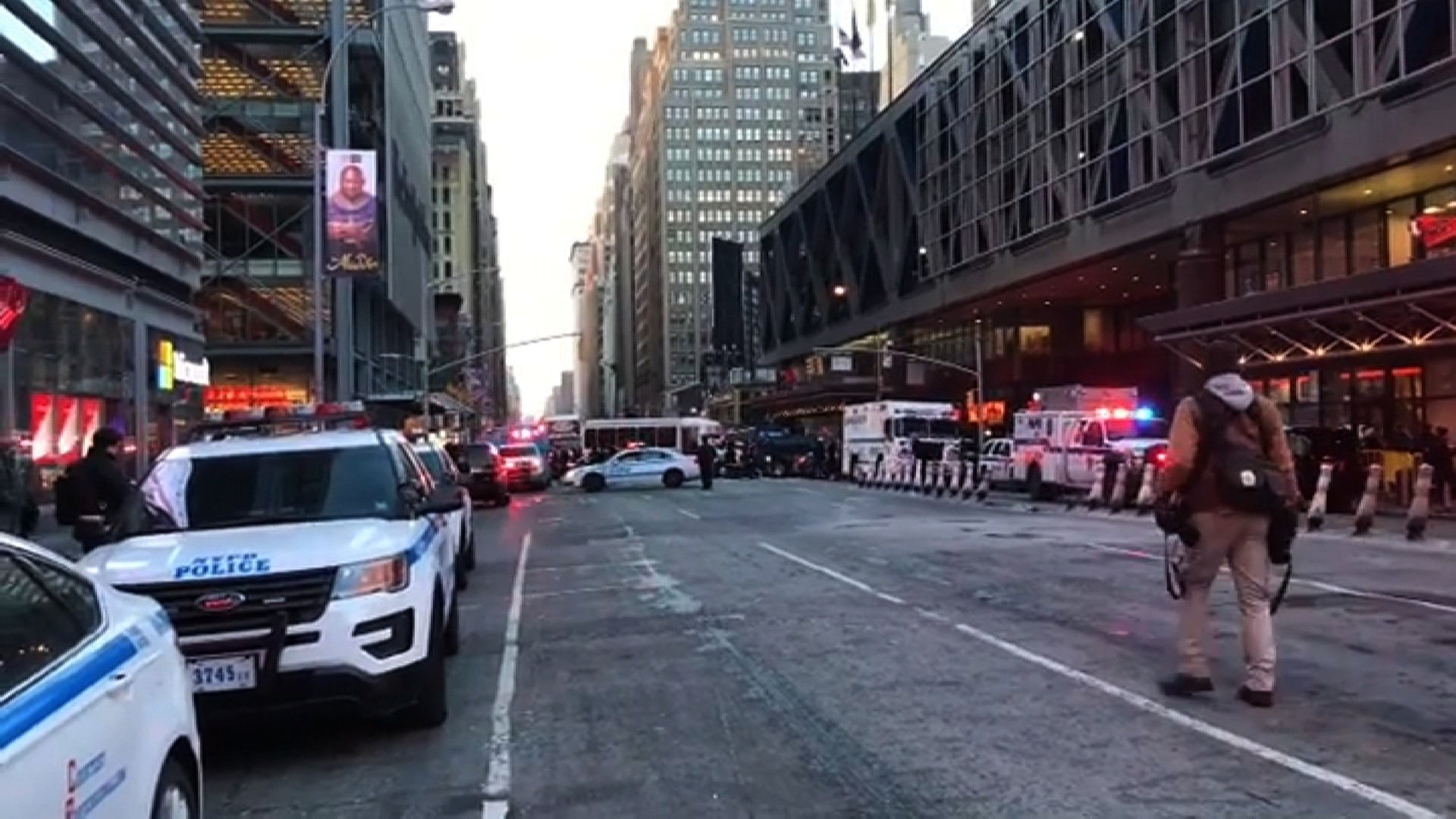 Police are responding to reports of a possible explosion on the A C and E subway lines near 42nd Street and Eighth Avenue New York Police Department Sgt. Brendan Ryan said Monday