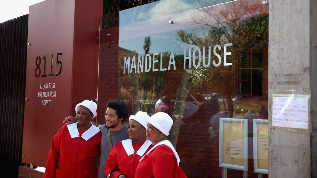 **This image is for use with this specific article only.**  This is the only street in the world home to two Nobel Peace Prize winners -- Nelson Mandela and Archbiship Desmond Tutu.