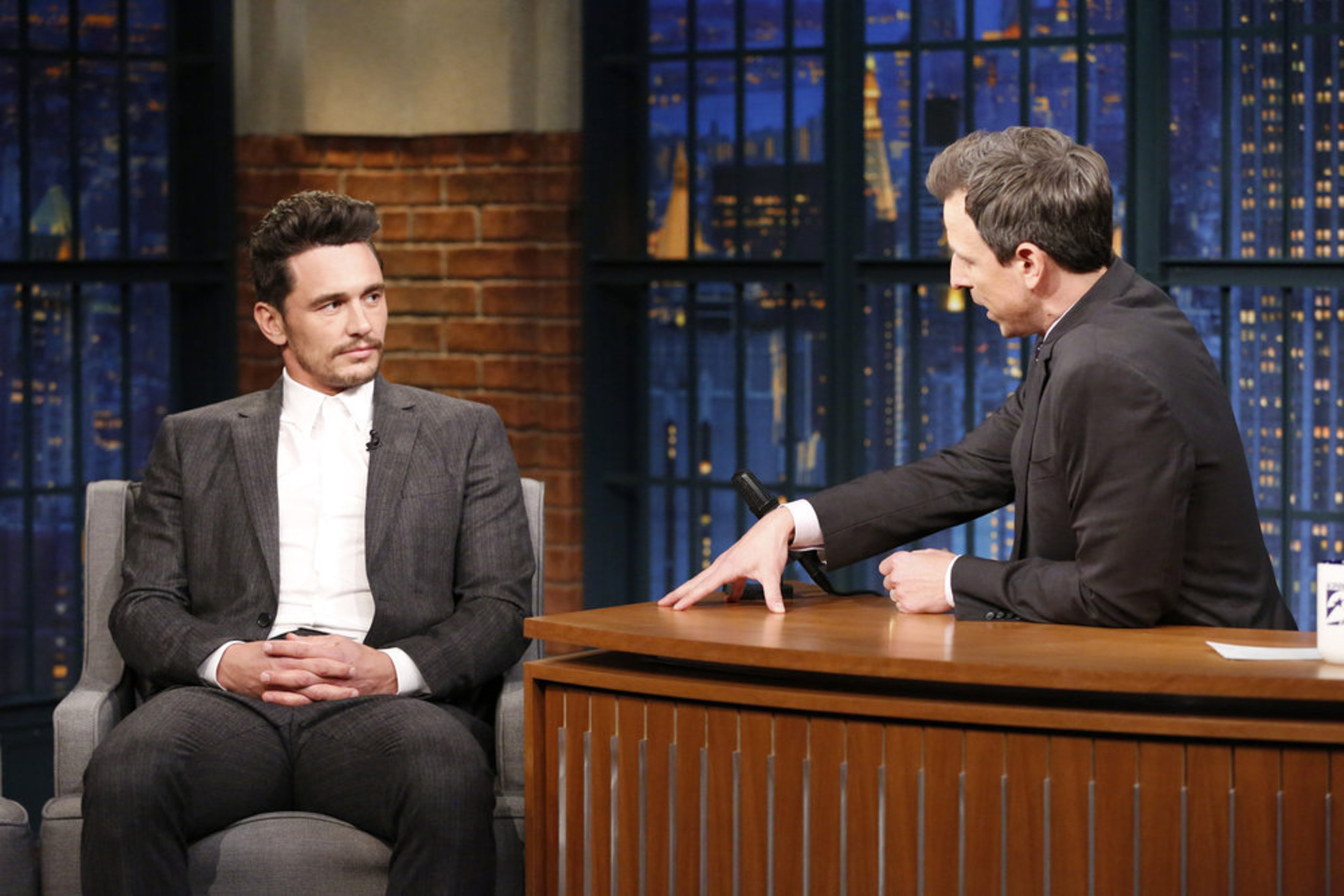 James Franco addressed sexual misconduct allegations against him with Seth Meyers during an interview.