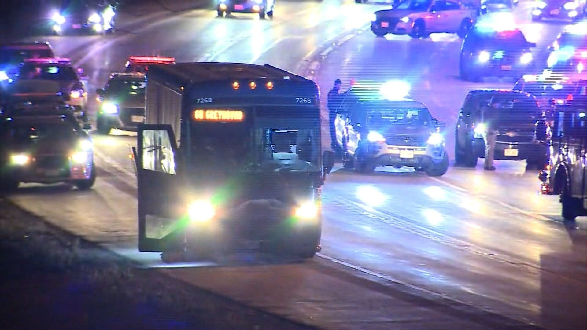 **Embargo: Milwaukee, WI.**  Police say a man on a Greyhound bus claimed to have a gun and made threats to kill people as the vehicle traveled from Milwaukee to Chicago