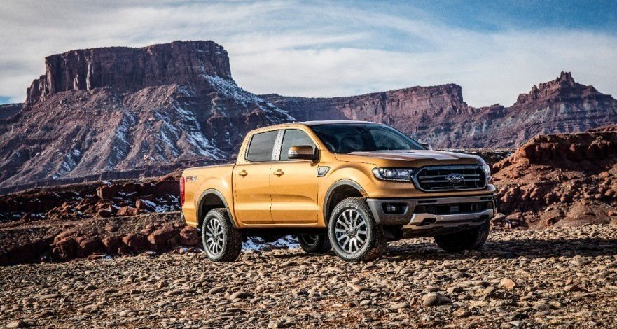 The new Ford Ranger is a mid-sized truck, bigger than the compact truck that went out of production in 2011.