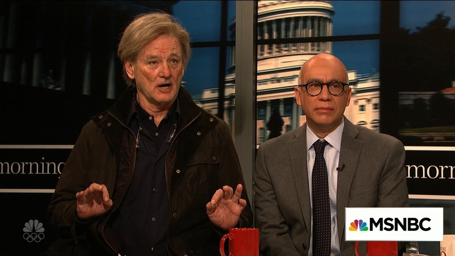 """""""Saturday Night Live"""" casts Bill Murray as Steve Bannon, Fred Armisen as """"Fire and Fury"""" author Michael Wolff."""