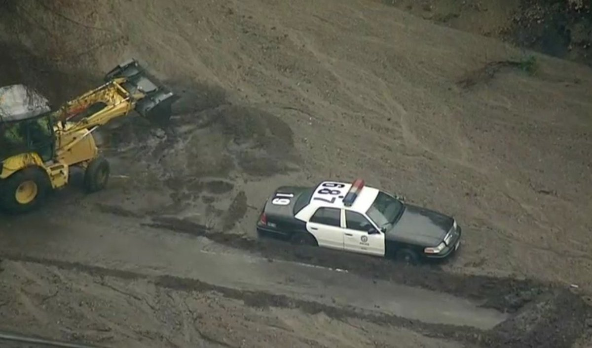Urban Search and Rescue team helped in searching for mudslide survivors