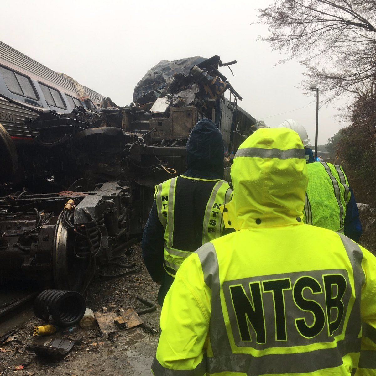 Amtrak Train 91 was traveling between New York and Miami with when it collided with a CSX freight train in Cayce South Carolina derailing the lead engine and some passenger cars Amtrak said in a statement