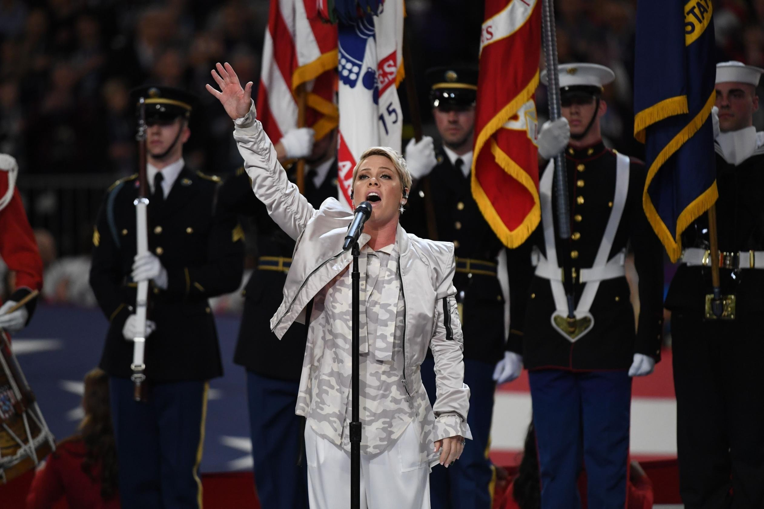 Super Bowl LII national anthem singer Pink is dealing with the flu