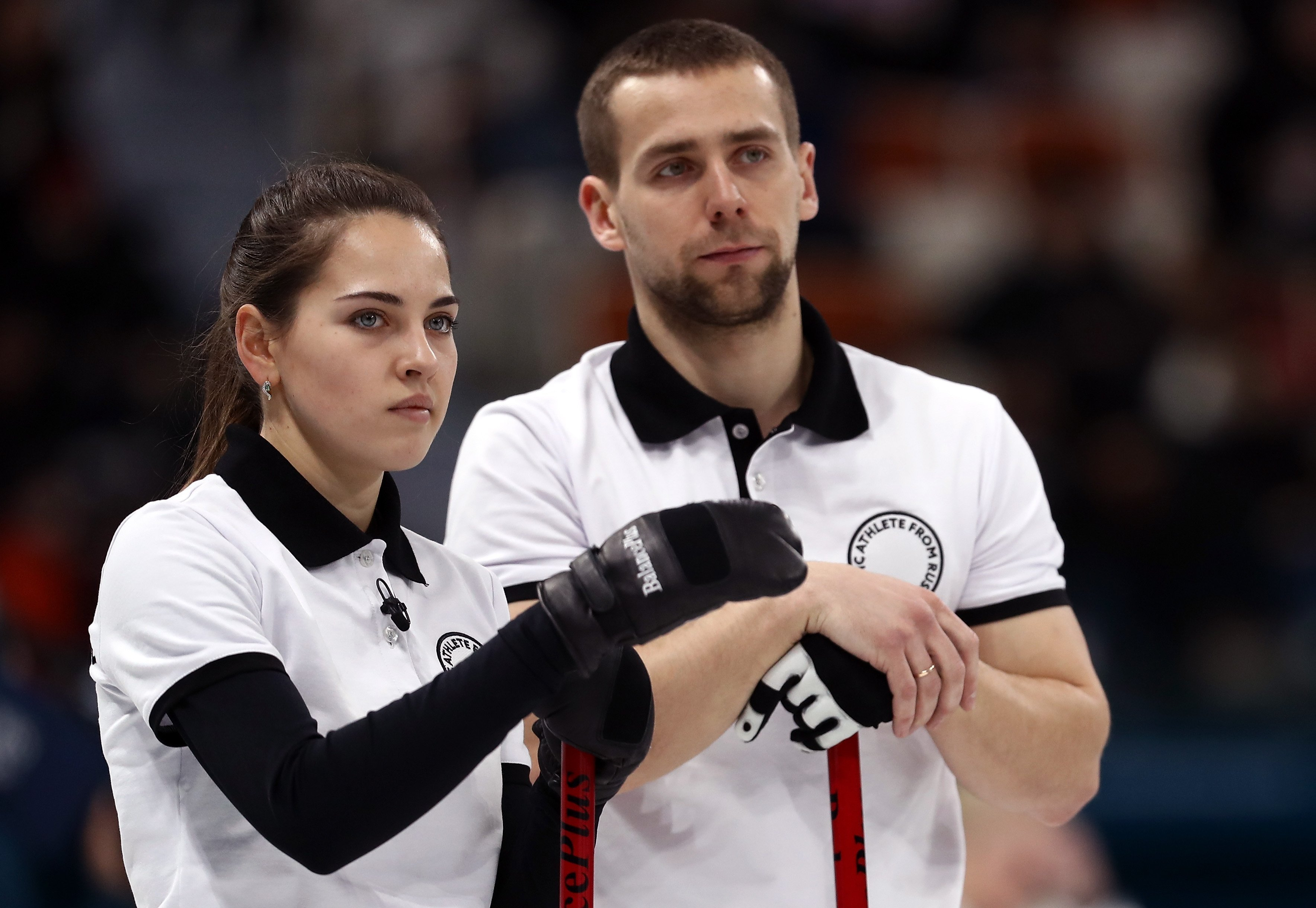 Russian curlers lost to the USA 9-3 at the Winter Olympics.