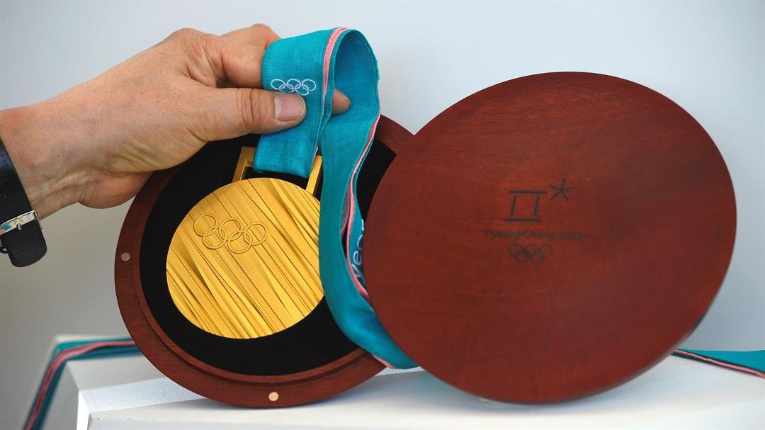 The PyeongChang 2018 Olympic gold medal.