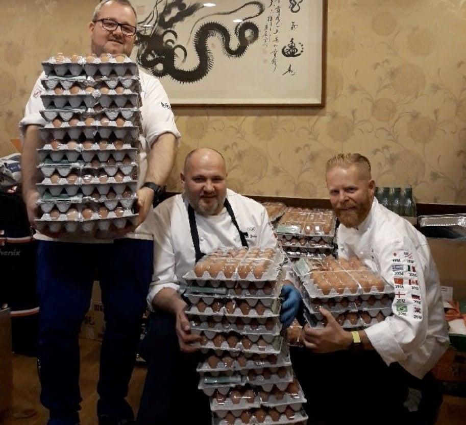 Norwegian chefs (from left) Ståle Berge, Ståle Johansen and Trond Skogvoll