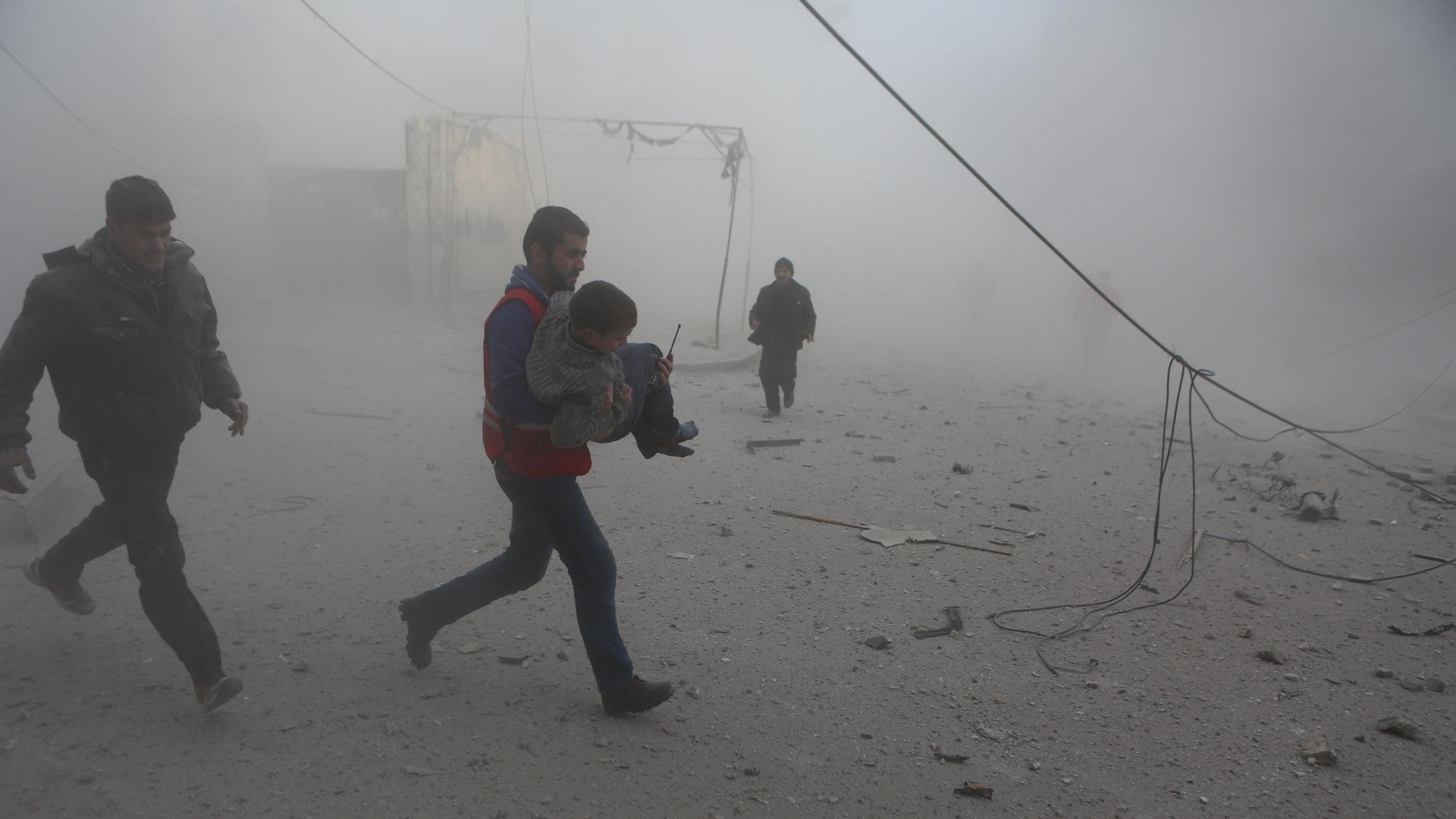More than 200 civilians have been killed since Monday in Syrian government airstrikes on parts of rebel-held Eastern Ghouta near Damascus, the Syrian Observatory for Human Rights said Thursday. Among the deaths were 54 children and 41 women.